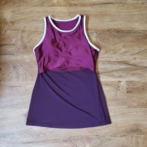 Fabletics maroon workout top